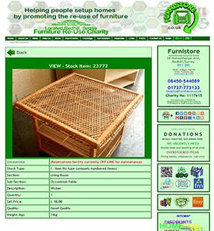 Furnistore - Website - Stock Detail