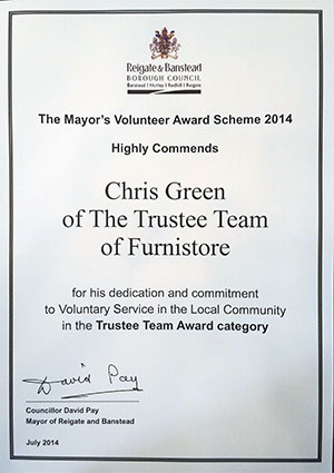 Mayors Trustee Team Award 2014 - Furnistore