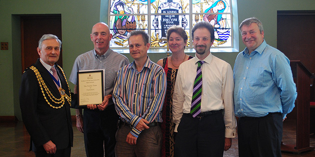 Furnistore Trustee Team - Collecting our award from Mayor David Pay