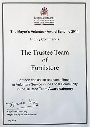 Furnistore - Mayors Award - Trustee Team