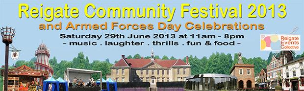 Reigate Community Festival 2013 - Banner