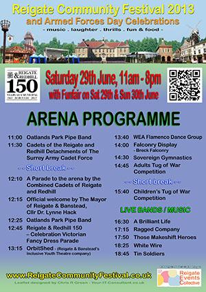 Reigate Community Festival 2013 - A5 Leaflet