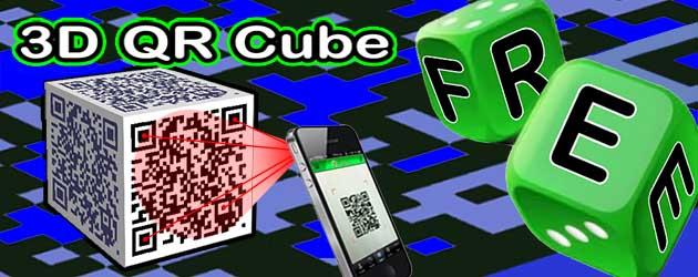 3D Cube QR Barcode FREE online - World's first!