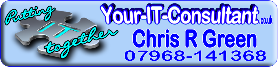 Chris R Green, IT Consultant, Internet Marketing, Banner, Putting IT together, Redhill, Surrey, UK, Consultancy