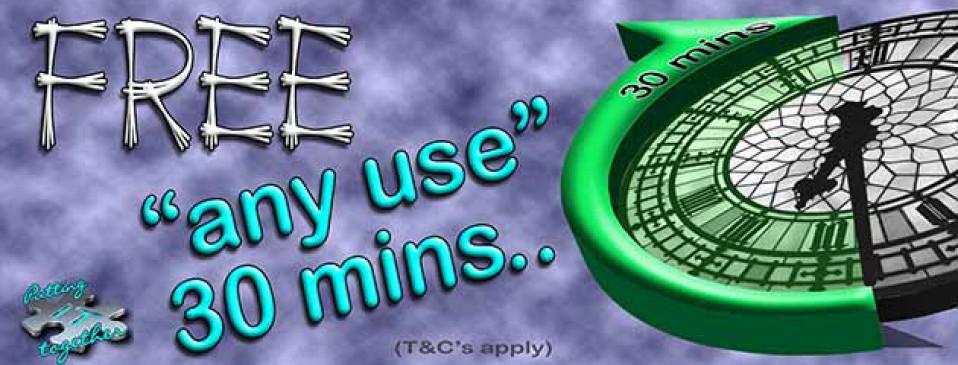 FREE 'any use' 30 minutes